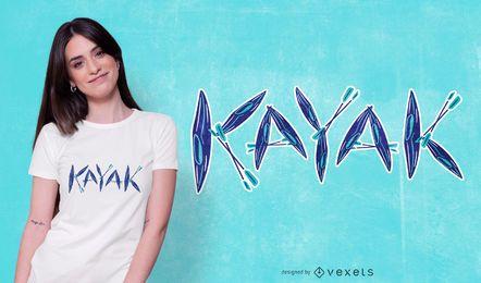 Kayak t-shirt design