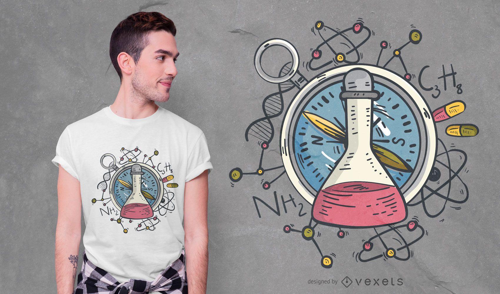 Diseño de camiseta de ciencia