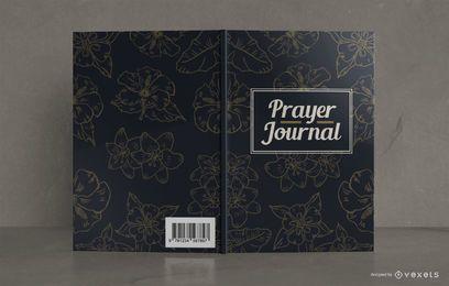 Design de capa de livro de jornal de oração floral