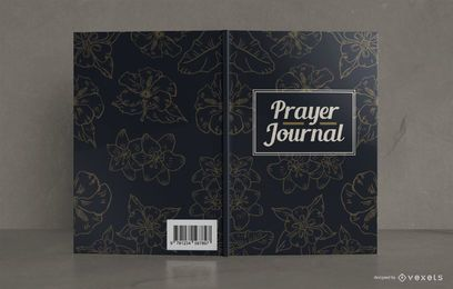Design floral da capa do livro do jornal de oração