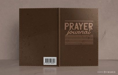 Diseño de portada de libro de diario de oración de estilo de cuero
