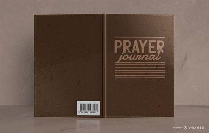 Diseño de portada de libro de diario de oración estilo cuero