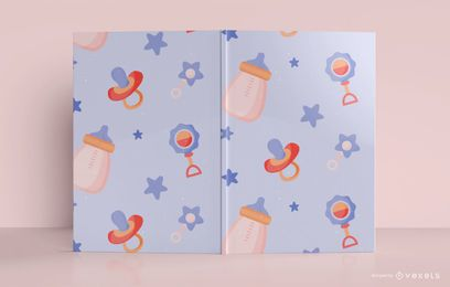 Design da capa do livro do Baby Pattern Journal