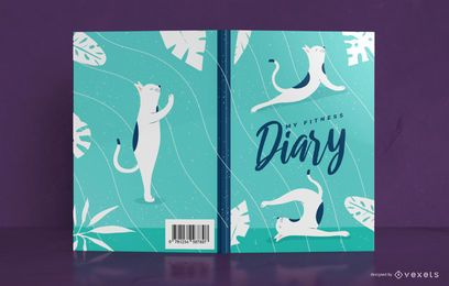 Yoga Dog Diary Book Diseño de portada