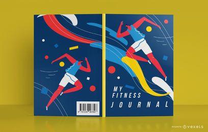 Design de capa de livro de jornal esportivo