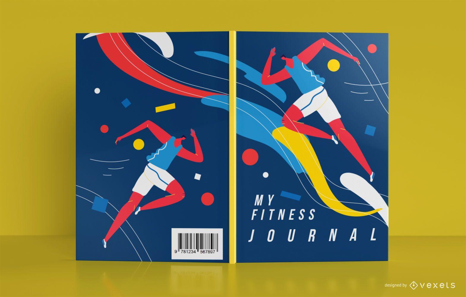 Diseño de portada de libro de diario deportivo