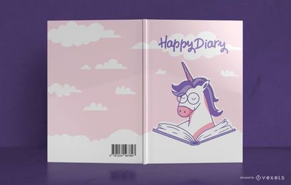 Unicorn Diary Book Cover Design