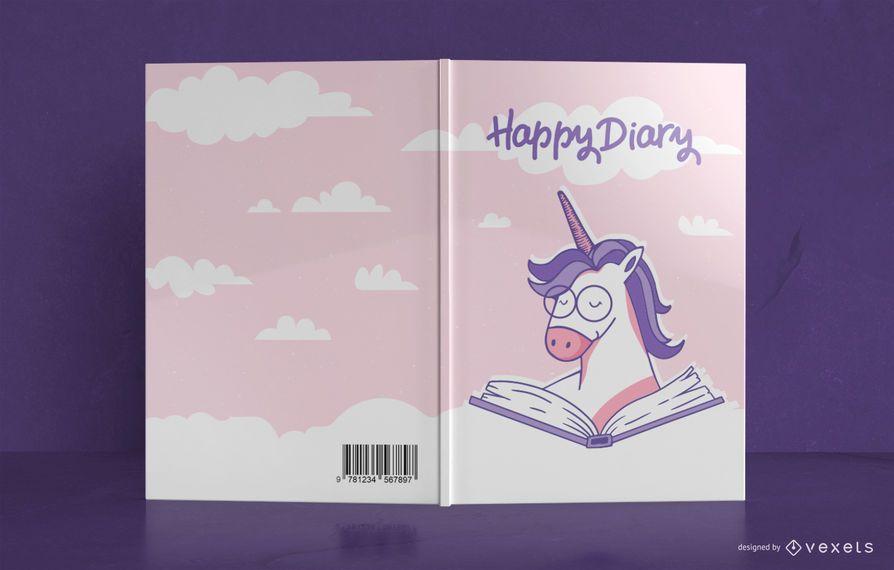 Unicorn Diary Book Cover Design