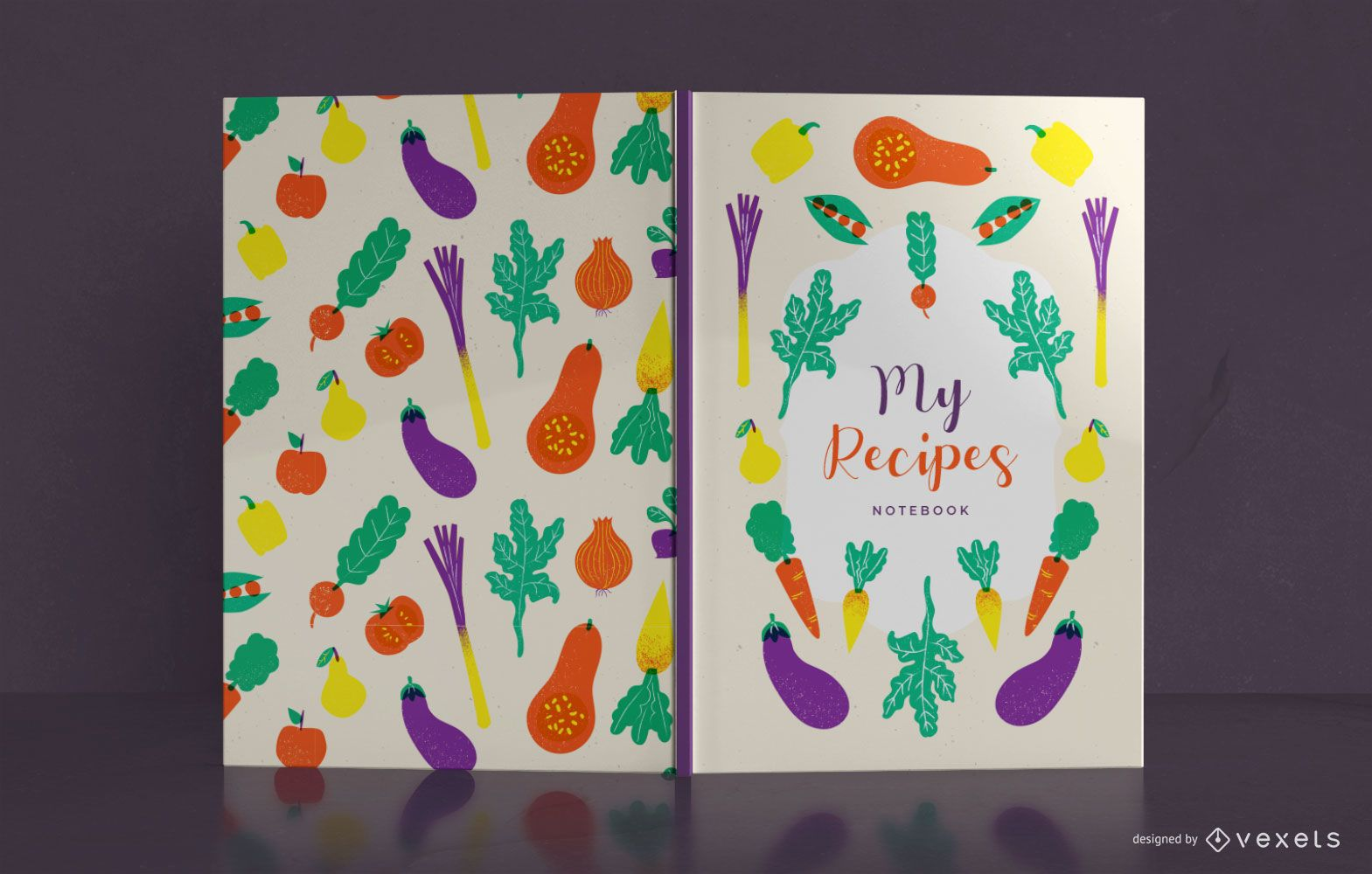 Vegetables Recipe Book Cover Design