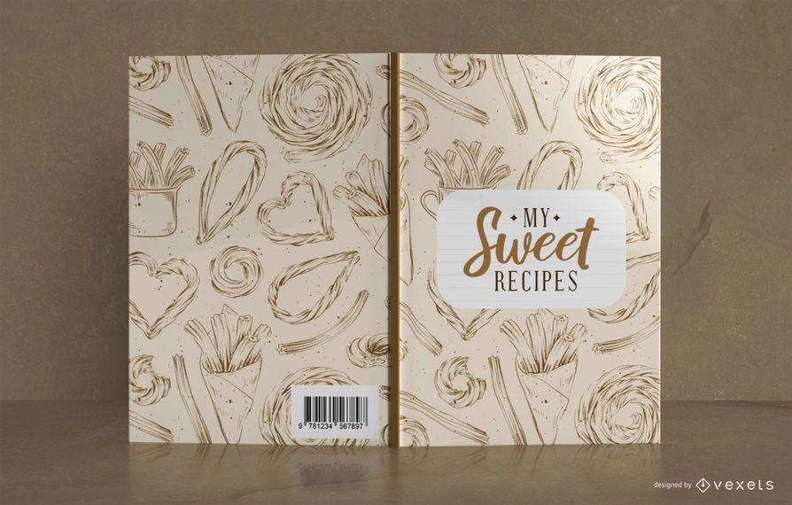 Design da capa do livro Sweet Recipe