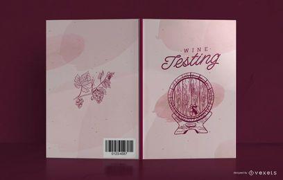 Design de capa de livro de jornal de vinho