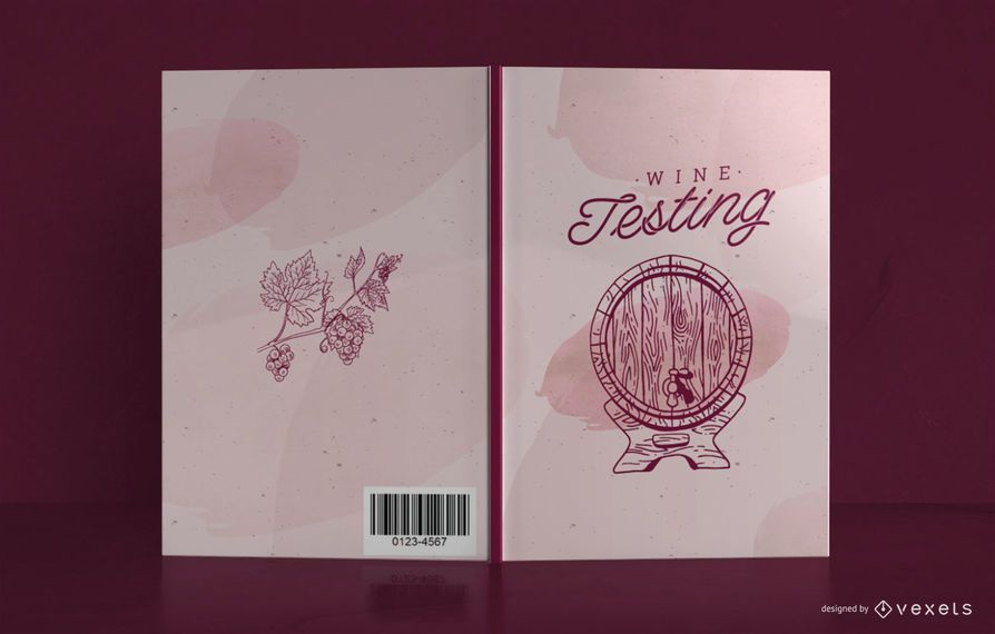 Wine Journal Book Cover Design