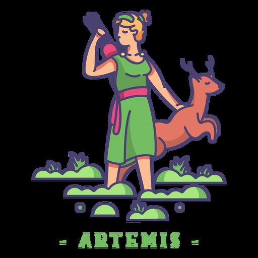 Artemis deus grego Transparent PNG