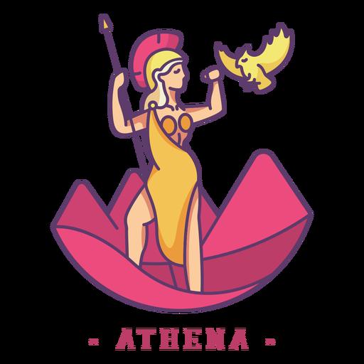 Atenea dios griego personaje Transparent PNG