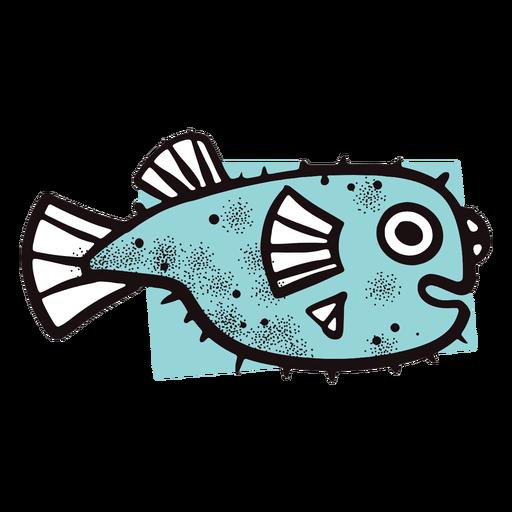 Golpe de pez azul