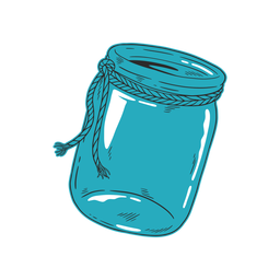 Blue jar hand drawn