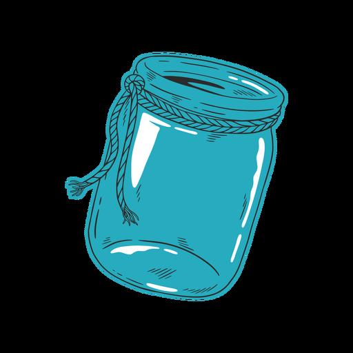 Dibujado a mano tarro azul