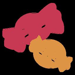 Doces kawaii dois doces