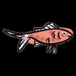 Peixe de desenho animado sorrindo