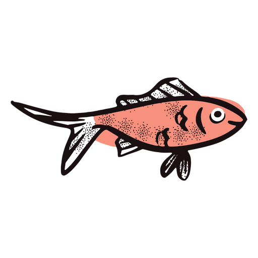 Cartoon fish smiling Transparent PNG