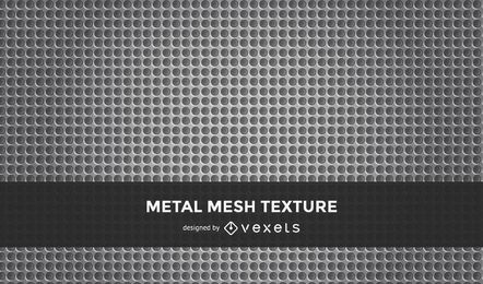 Vector inconsútil patrón de metal perforado