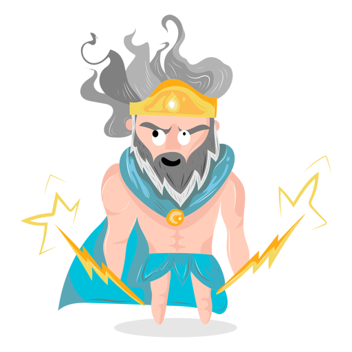 Personaje dios zeus Transparent PNG