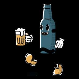 Charakter Oktoberfest Flasche