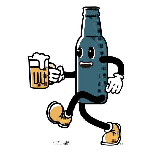 Character oktoberfest bottle Transparent PNG