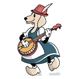 Perro Oktoberfest de personaje