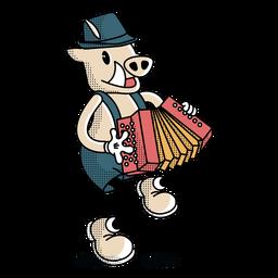 Personaje de cerdo oktoberfest