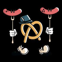 Character oktoberfest pretzel