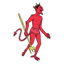 Diabo de personagem vermelho