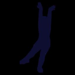 Tanzen Silhouette Mädchen