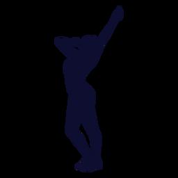 Bailando silueta mujer