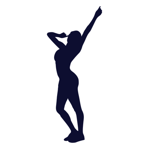 Dancing silhouette woman