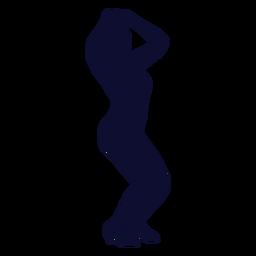 Baile silueta mujer negro