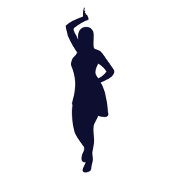 Dancing silhouette woman black dance