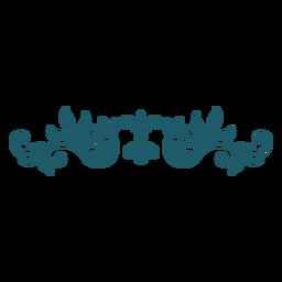 Ornamento de divisor verde