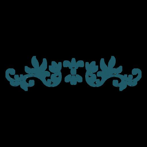 Divider green ornament Transparent PNG