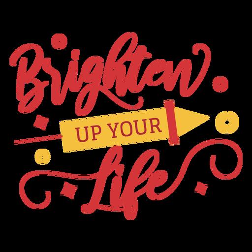 Diwali lettering brighten up your life Transparent PNG