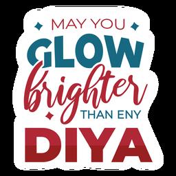 Diwali lettering diya