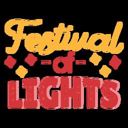 Festival de letras de Diwali das luzes