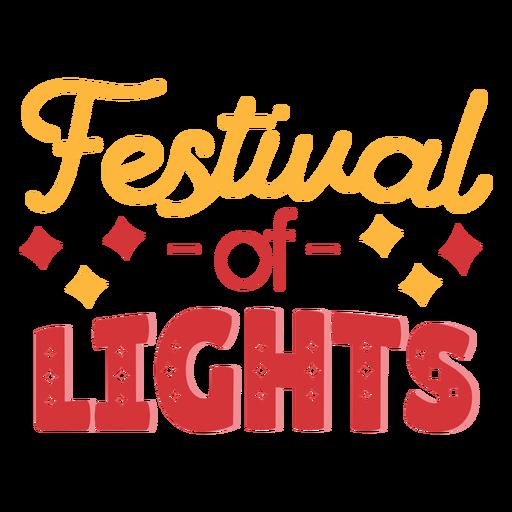 Diwali lettering festival of lights