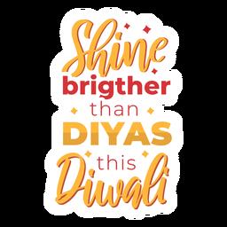 Diwali lettering brilho mais brilhante