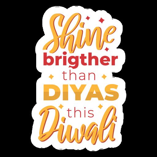 Diwali lettering shine brighter