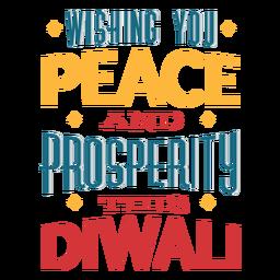 Diwali lettering wishing you peace