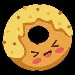 Flat kawaii donut