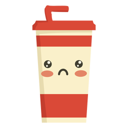 Bebida kawaii plana