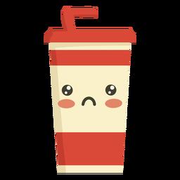 Flat kawaii drink