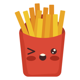 Flat kawaii fries